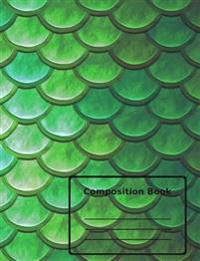 Composition Book / Magical Mermaid Scales Design / Dot Grid Paper