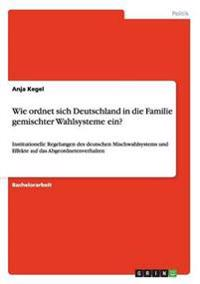 Wie Ordnet Sich Deutschland in Die Familie Gemischter Wahlsysteme Ein?
