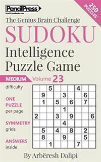 Sudoku Puzzle Books Volume 23. Medium. Sudoku Intelligence Puzzle Game