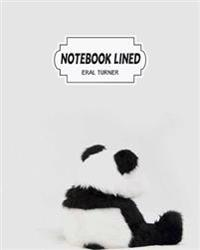 Notebook Lined: Panda: Notebook Journal Diary, 120 Lined Pages, 8 X 10