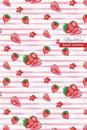 Strawberry Bullet Journal: Compact 6 X 9 Inches 120 Cream Paper Blank Dot Grid Notebook / Planner / Diary