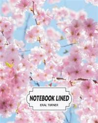 Notebook Lined: Cherry Blassom: Notebook Journal Diary, 120 Lined Pages, 8 X 10