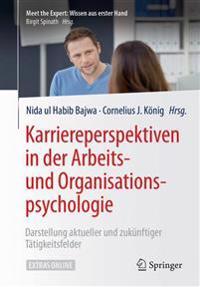 Karriereperspektiven in Der Arbeits- Und Organisationspsychologie: Darstellung Aktueller Und Zukunftiger Tatigkeitsfelder