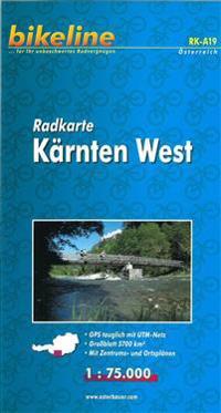 Karnten West Cycle Map