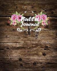 "Bullet Journal: Dot Grid Journal - Wooden Plank Notebook Dot Grid - 8""x10"" 150 Pages: Bullet Journal"
