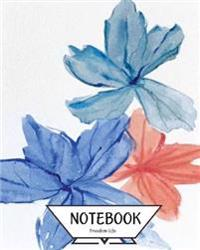 Notebook Journal Graph, Line, Blank No Lined: Watercolor Flora V.2: Pocket Notebook Journal Diary, 120 Pages, 8 X 10 (Notebook Journal)