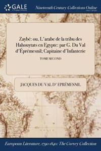 Zaybe: Ou, L'Arabe de la Tribu Des Hahouytats En Egypte: Par G. Du Val D'Epremesnil; Capitaine D'Infanterie; Tome Second