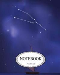 "Notebook: Journal Dot-Grid, Graph, Lined, Blank No Lined: Taurus Constellation: Pocket Notebook Journal Diary, 120 Pages, 8"" X 1"
