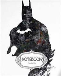 "Notebook Journal Dot-Grid, Lined, Blank No Lined: Dark Batman: Pocket Notebook Journal Diary, 120 Pages, 8"" X 10"" (Notebook Journal)"