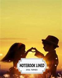 Notebook Lined: Couple 02: Notebook Journal Diary, 120 Lined Pages, 8 X 10