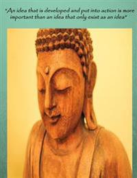 Notebook College Ruled Budda Quote 200 Pages Size 8.5 X 11