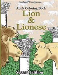 Lion and Lionese: Adult Coloring Book