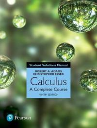 Student Solutions Manual for Calculus: A Complete Course, 9/e