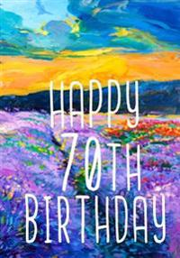 Happy 70th Birthday: Birthday Gifts for Her, Birthday Journal Notebook for 70 Year Old for Journaling & Doodling, 7 X 10, (Birthday Keepsak