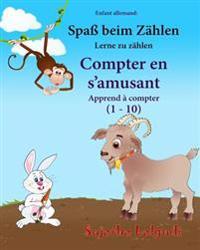 Enfant Allemand: Compter En S'Amusant: Un Livre D'Images Pour Les Enfants (Edition Bilingue Francais-Allemand), Animaux Enfants (Biling
