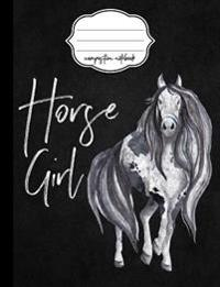 Horse Girl Composition Notebook - 4x4 Quad Rule: Composition Notebook, 4x4 Quad Rule Graph Paper for School / Work / Journaling