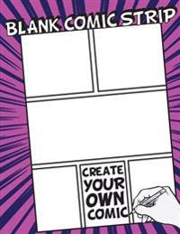 Blank Comic Strip: 8.5 by 11 (Large Print) - Over 100 Stagged 7 Panal - Gift for Kids Drawing Your Own Comic Journal Notebook - Vol.6: Bl