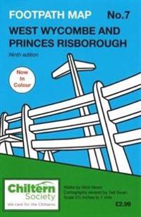Footpath map no. 7 west wycombe and princes risborough - ninth edition