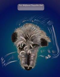 Irish Wolfhound Composition Book: 100 Page Lined Notebook for Large Breed Dog Lovers