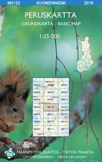 Peruskartta M5122 Suomenniemi 1:25 000