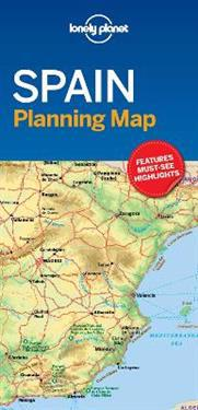 Lonely Planet Spain Planning Map Lonely Planet Kartta