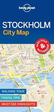 Lonely Planet Stockholm City Map Lonely Planet Kartta