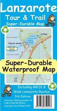 Lanzarote TourTrail Super-Durable Map