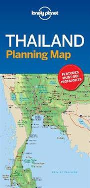 Lonely Planet Thailand Planning Map Lonely Planet Kartta