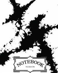 """Notebook: Watercolor Black Ink V.4: Notebook Journal Diary, 120 Pages, 8"""" X 10"""" (Notebook Lined, Blank No Lined)"""