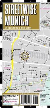Streetwise Munich Map - Laminated City Center Street Map of Munich, Germany
