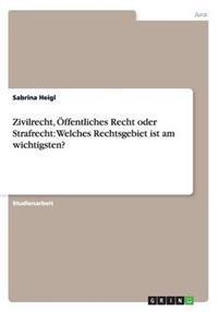 Zivilrecht, Offentliches Recht Oder Strafrecht: Welches Rechtsgebiet Ist Am Wichtigsten?