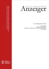 Geistes-, Sozial-Und Kulturwissenschaftlicher Anzeiger 151. Jahrgang 2016, Heft 2