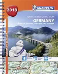 Tyskland 2018 Atlas Michelin A4 1:300 000