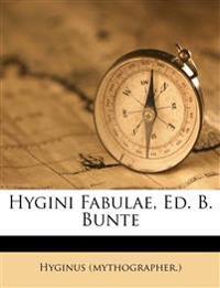 Hygini Fabulae, Ed. B. Bunte