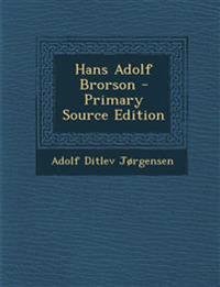 Hans Adolf Brorson - Primary Source Edition