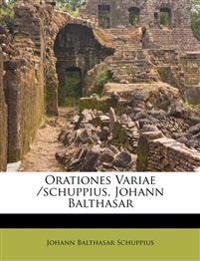 Orationes Variae /schuppius, Johann Balthasar