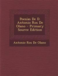 Poesias de D. Antonio Ros de Olano