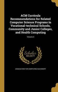ACM CURRICULA RECOMMENDATIONS