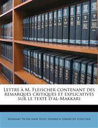 Lettre à M. Fleischer contenant des remarques critiques et explicatives sur le texte d'al-Makkari
