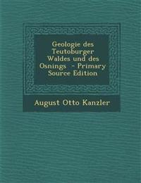 Geologie Des Teutoburger Waldes Und Des Osnings - Primary Source Edition