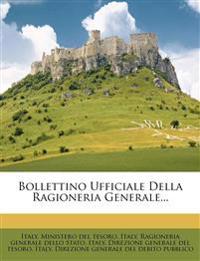 Bollettino Ufficiale Della Ragioneria Generale...