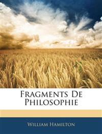 Fragments De Philosophie