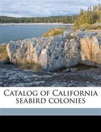 Catalog of California seabird colonies