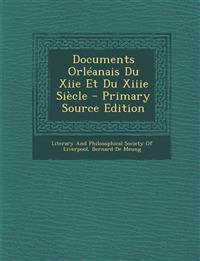 Documents Orléanais Du Xiie Et Du Xiiie Siècle