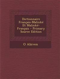 Dictionnaire Français-Malinké Et Malinké-Français