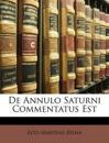 De Annulo Saturni Commentatus Est