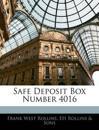 Safe Deposit Box Number 4016