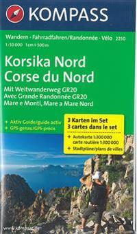 Korsika Nord - Corse du Nord - Weitwanderweg GR20 1 : 50 000