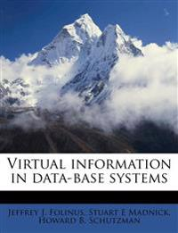 Virtual information in data-base systems