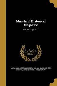 MARYLAND HISTORICAL MAGAZINE V